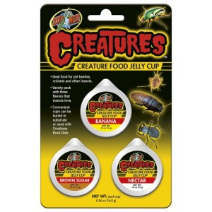 Zoo Med Creatures Food Jelly Cup - Geleia p/ Insectos - 3 Copos